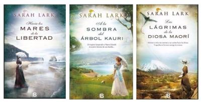 trilogía de Kauri Sarah lark portadas tres libros