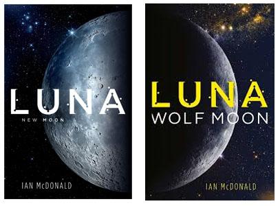 luna ian mcdonald, portada de los dos libros