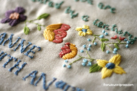 embroidery flowers anne with an e bordado flores