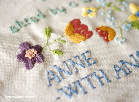 embroidery bordado anne with an e