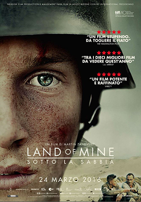 land of mine bajo la arena película poster cartel