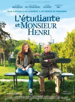 el señor henri comparte piso l'étudiante et monsieur henri poster película cartel
