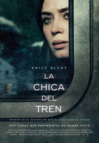 la chica del tren poster cartel